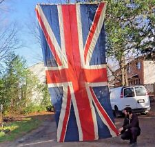 VERY RARE Antique 1930s Oversized 8' x 15' Union Jack Great Britain England Flag