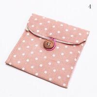 Sanitary Napkin Towel Pads Polka Dot Small Bag Purse Holder Organizer Women