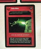 Star Wars CCG SWCCG Dark Interrupt Card SURFACE DEFENSE Rare card! NM / MINT