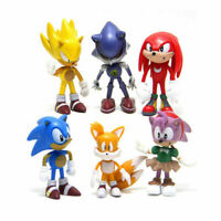7cm Sonic The Hedgehog Figures Pvc Characters Figure 6pcs Boys Collection Toy
