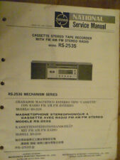 National Panasonic RS-253S  Stereo music System   Service Manual