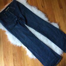 VTG Sergio Valente Women's Low Rise Wide Flare Leg Dark Wash Jeans Size 30