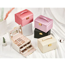 Large Portable Jewellery Box Rings Necklaces Bracelets Jewelry Storage Organiser