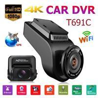 T691C 2in Front 4K 2160P Car DVR Dash Cam Camera WIFI GPS + 1080P HD Rear Camera