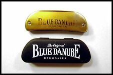 """Great Collectable """"Blue Danube"""" 10 Hole Harmonica With Box,"""