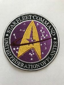 """3"""" Starfleet Command  Star Trek Embroidered Iron Or Sew On Patch Badge RARE"""