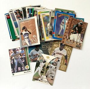Barry Bonds huge 62 card lot w/ inserts, all different, Mays, Giants, Pirates