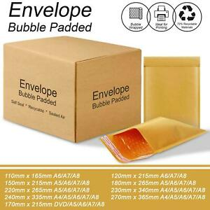 GOLD BUBBLE PADDED ENVELOPES MAIL MAILERS BAGS POSTAL WRAP MAILING BAGS ENVELOPE