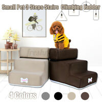 30x35x30CM 3 Steps Dog Stairs For High Bed Pet Cat Ramp Ladder W/ Removable Top