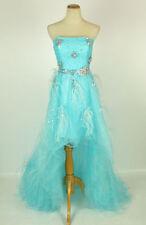 New Jovani 5841 Genuine BLUE High-Low Bridal Wedding Evening Prom Women Gown 0