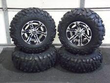 "YAMAHA RHINO 450 25"" QUADKING ATV TIRE & VIPER M/B WHEEL KIT IRS1CA BIGGHORN"