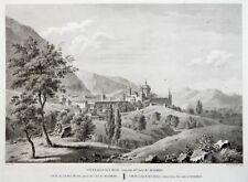1820 MADRID SPAIN Large view EL ESCORIAL L'Escurial  Grabados Original Antiguos