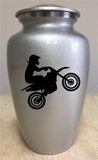 Motocross sport adult cremation urn