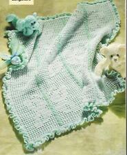 Crochet Pattern ~ Butterfly Baby Afghan ~ Instructions