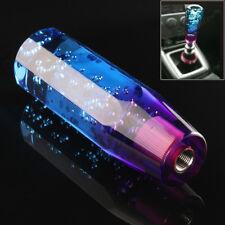 Universal Manual Diamond Crystal Bubble Styling Gear Shift Knob Blue Purple UK