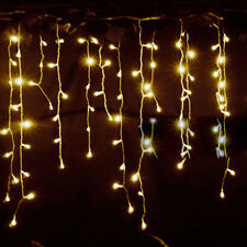 3.5m 96LED Icicle Hanging Snow Fairy Lights Curtain Christmas Wedding Party Xmas