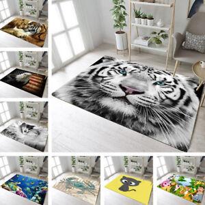 Animals Home Non-slip Soft Carpet Floor Living Room Yoga Mat Kids Play Area Rugs