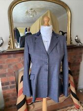 Ladies TAGG Blue/Red/Blue Overcheck Tweed Show Jacket Size 40/16 Double Vents