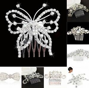 Hair Comb Vintage Handmade Crystal Alloy Fashion Design Wedding Bridal Hair Comb