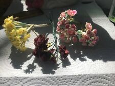 for Doll Hat-Paper-1950/'s Japan Vintage Millinery Flowers WHITE