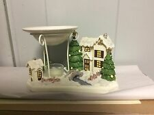 Yankee Candle Tea Light Holder Wax Burner Christmas Winter Snow New