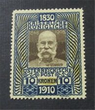 nystamps Austria Stamp # 144 Mint OG NH $360 Early Forgery
