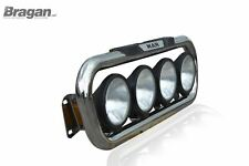 Grill Bar + Round Spots For MAN TGA Chrome Stainless Bar Steel Front Lamps Truck