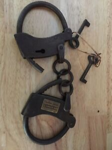 Tombstone Antique Style Shackles Handcuffs Vintage Patina WOW Collectors Vg