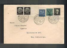 1938 Rumburg Germany Sudetenland Provisional Cover to Schluckenau Overprints