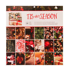 American Crafts Holiday Single Sided Paper Pad Tis The Season