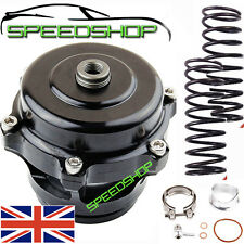 UNIVERSAL 50MM BLACK V BAND TURBO SUPER CHARGED BLOW OFF BOV DUMP VALVE KIT