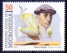 Wilbur Wright, Developed 1st Airplane, Aviation, Micronesia 1993 MNH