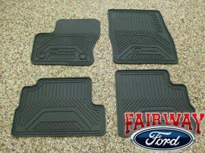 2013 thru 2018 C-Max OEM Genuine Ford Rubber All Weather Floor Mat Set 4-pc