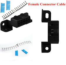 16Pin OBD2 II Female Connector Cable Female Wire Sockets Car Adapter Plug Shell