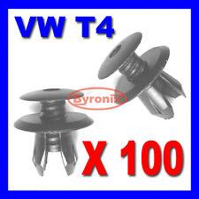 100x VW T4 T5 TRANSPORTER INTERIOR TRIM PANEL LINING CLIPS BLACK PLASTIC
