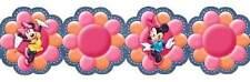 Disney Minnie Funky Flowers Wallpaper Border Navy Denim Prepasted DF059222D