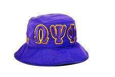 Omega Psi Phi Fraternity Founding Year Floppy Mesh Bucket Hat-New!