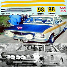 Lotus Cortina Mk II Lacs Monte Carlo 1968 #98 T. Belso 1:43 Decal Décalcomanie