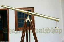 Nautical Brass TELESCOPE 39 Inch Wooden Tripod Stand Spyglass Antique Vintage