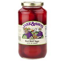 Jake & Amos Red Beet Pickled Eggs 32 Oz. Jar (Pack of 4)