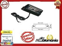 90162 LAMPADA LED LUCE TARGA 12v 4 LED BIANCHI OMOLOGATA X MOTO SCOOTER QUAD