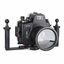 Meikon 60m/195ft Underwater Camera Housing Diving Case for Nikon D750 with Tray