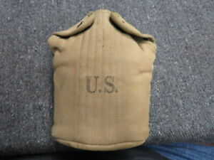WWII US ARMY CANTEEN SET W/ CUP & COVER-ORIGINAL-NICE MARKINGS