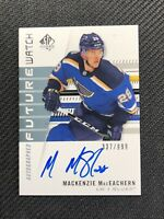 2019-20 SP AUTHENTIC MACKENZIE MACEACHERN ROOKIE FUTURE WATCH AUTO #ed 337/999