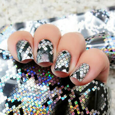 Cool Snake Skin Holographic Nail Art Foil Sticker Decals Manicure Decoration
