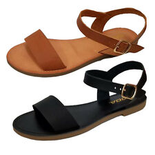 Women Black Tan Sandals Shoes Gladiator Thong Flops T Strap Flip Flat Strappy