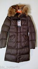 RARE Parajumpers NEW Michelle Antique Bronze Brown S XS Small Jacket DOWN Coat