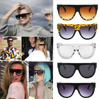 Oversized Shadow Sunglasses Flat Top Shield Women's Ladies High Quality AU