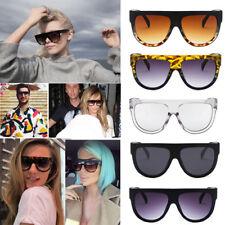 Women Men Inspired Flat Top Shield Tortoise Sunglasses KIM Celebrity Eyewear Hot