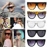 Oversized Shadow Sunglasses Flat Top Shield Women's Ladies High Quality AU